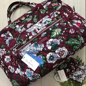 VERA BRADLEY SET Weekender Travel & Makeup Bag NWT